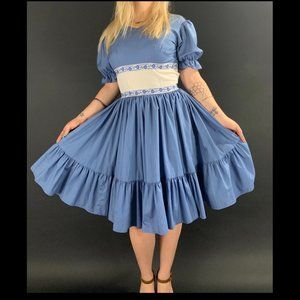 70s Calico House Square Dance Dress
